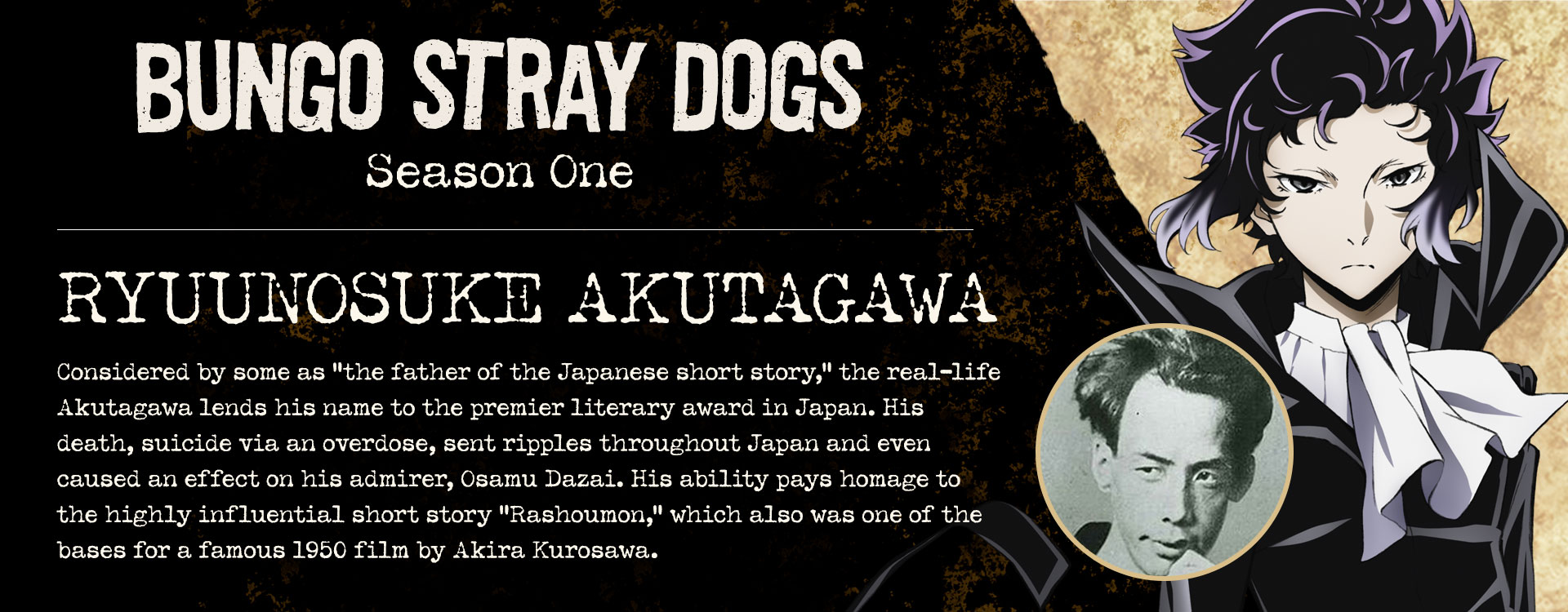The Real Stories Behind the Bungo Stray Dogs - Funimation