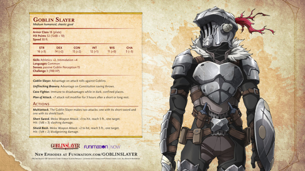 Goblin Slayer Character Stat Cards Funimation Blog Images, Photos, Reviews