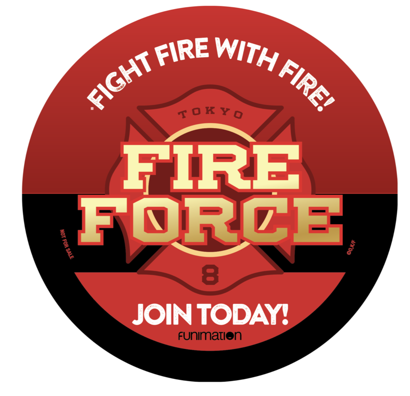 Anime Expo 2019 Badges: Fire Force Badge Button